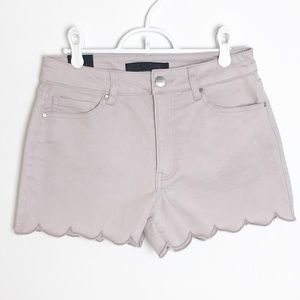 STITCH FIX Tinsel Scallop Hem Hi Rise Shorts